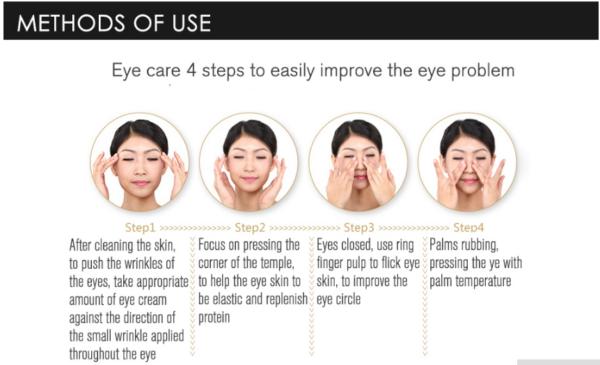 rorec dark circle eye cream method of use