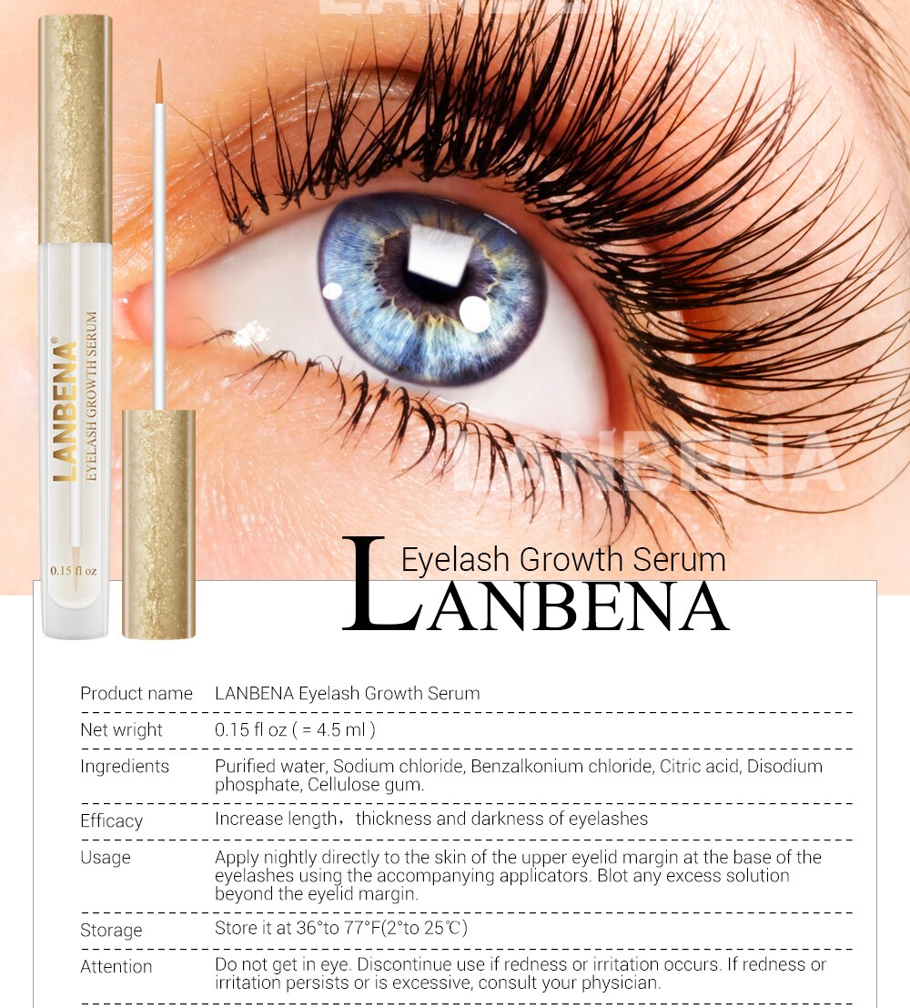 LANBENA Eyelash Enhancer And Eyelash Growth Serum