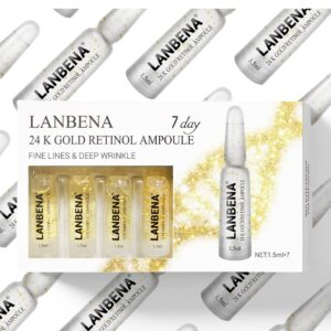 Lanbena 24K skin tightening ampoule for seven days.