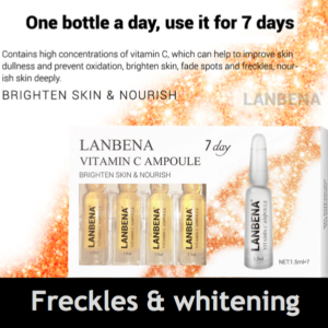 Freckles and whitening serum vitamin c