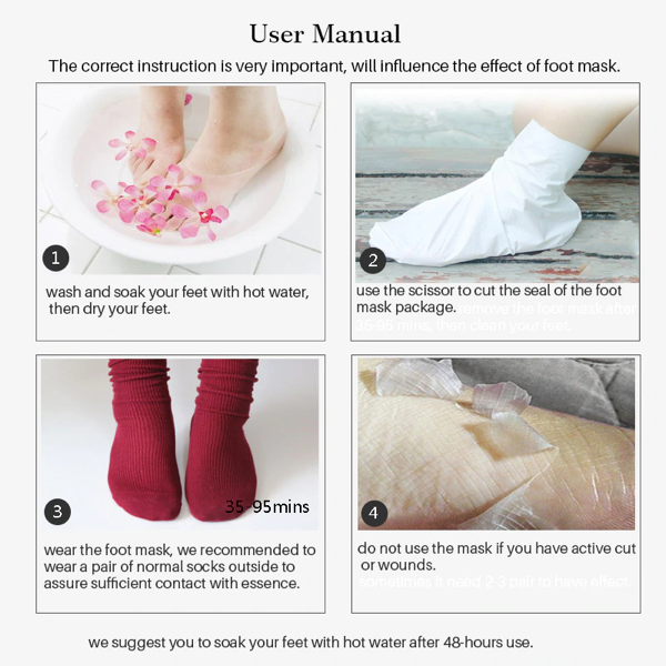 Exfoliating foot mask how to use