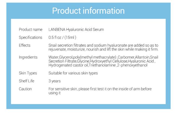 hyaluronic acid lanbena