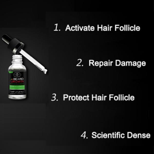 beard growth oil specification