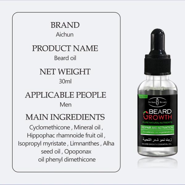 beard growth oil ingredients
