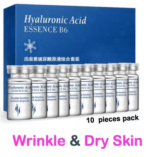 bioaqua hyaluronc acid 10 pieces pack for wrinkles and dry skin