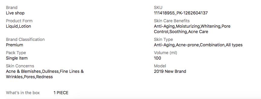 goldzen serum specification