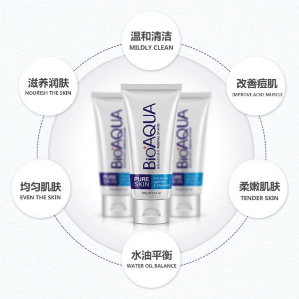 bioaqua acne face wash foam features and benefits