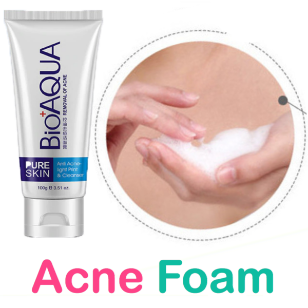 bioaqua acne face wash foam