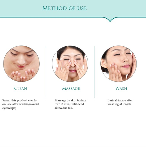 method of use of bioaqua exfoliating scrub