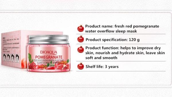 bioaqua pomegranate night mask ingredients