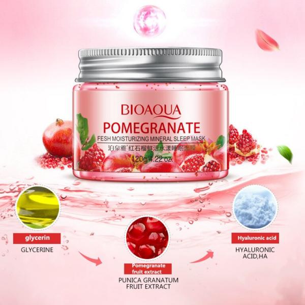 bioaqua pomegranate night mask features