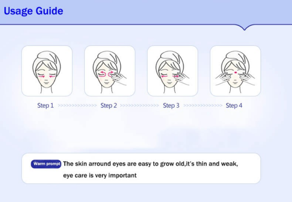 how to use wonder dark circle eye cream