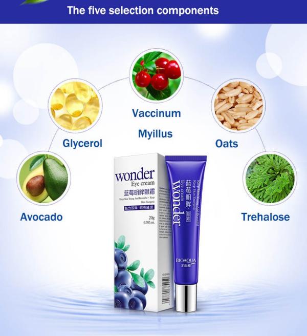 wonder dark circle eye cream ingredients