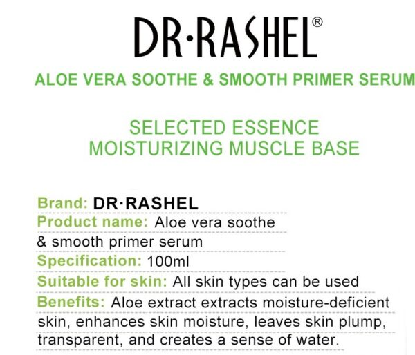 ingredients of dr rashel face aloe vera serum