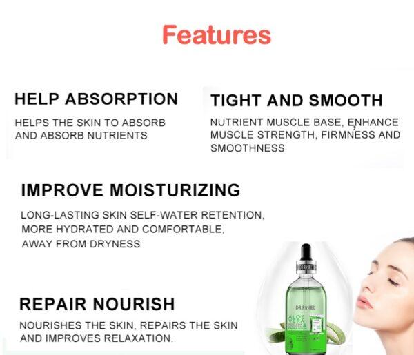 dr rashel aloe vera soothing serum features