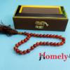 Brown aqeeq 33 beads tasbih