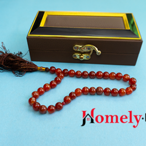 Brown aqeeq 33 beads tasbih