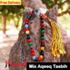 Mix color aqeeq tasbih 33 beads