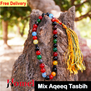 Mix color aqeeq tasbih 33 beads