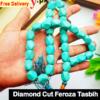 feroza diamond cut tasbih 33 beads