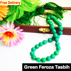 Green feroza tasbih 33 beads