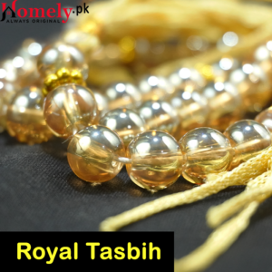 golden crystal tasbih 33 beads