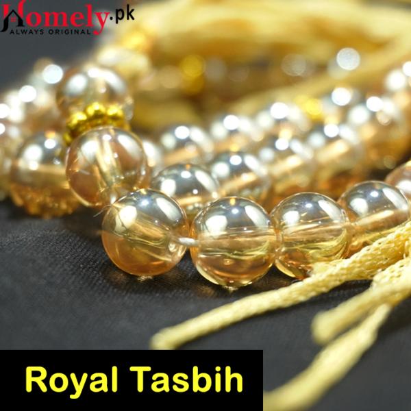 golden crystal tasbih 33 beads