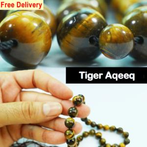 tiger aqeeq stone tasbih