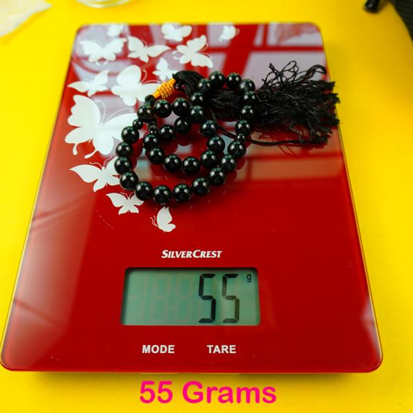 black aqeeq tasbih weight