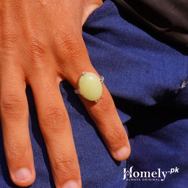 Jugnu stone ring for men