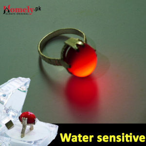 water sensitive ring red fire stone ring
