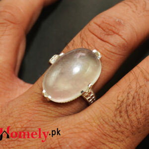 moon stone silver ring