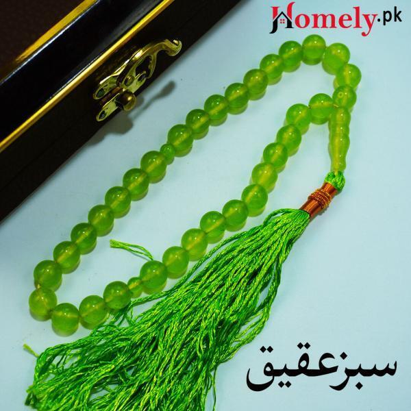 green aqeeq tasbih