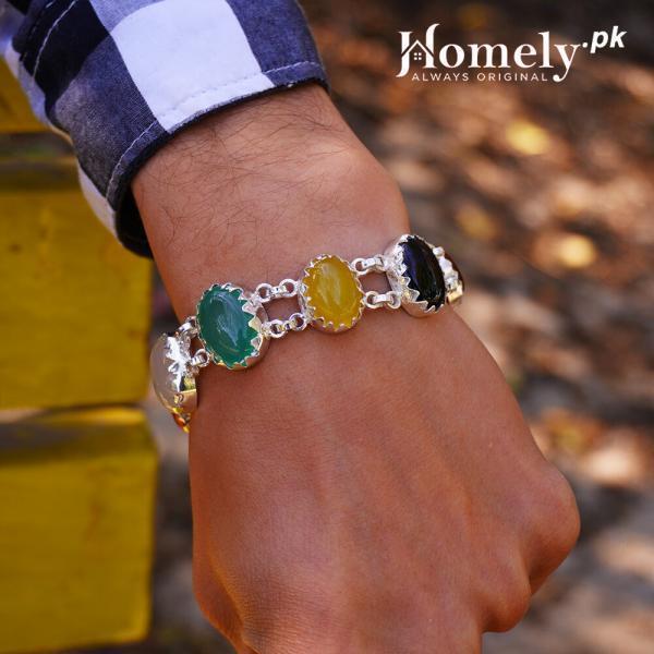 7 agate aqeeq-chandi-bracelet
