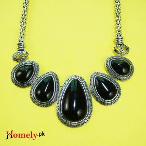 antigue jewellery black agate