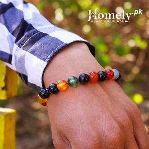 all color mix aqeeq agate bracelet