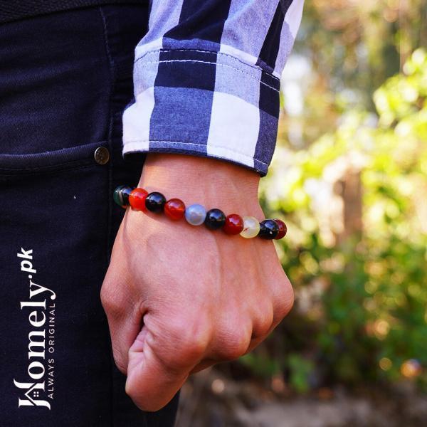 all color mix aqeeq agate bracelet