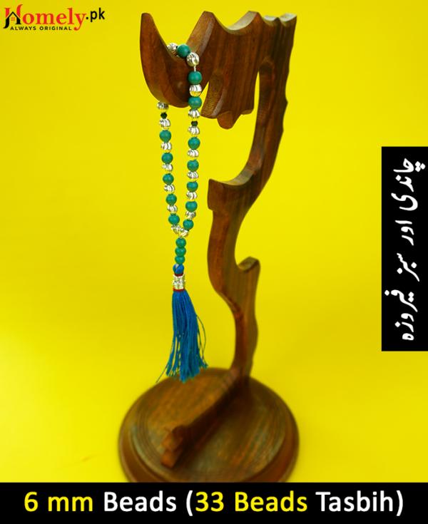 Feroza-plus-Chandi-6mm-beads-Tasbeeh-image-1