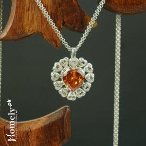 Flower Heart Pure silver locket