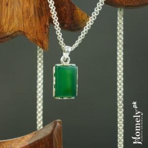 green aqeeq locket
