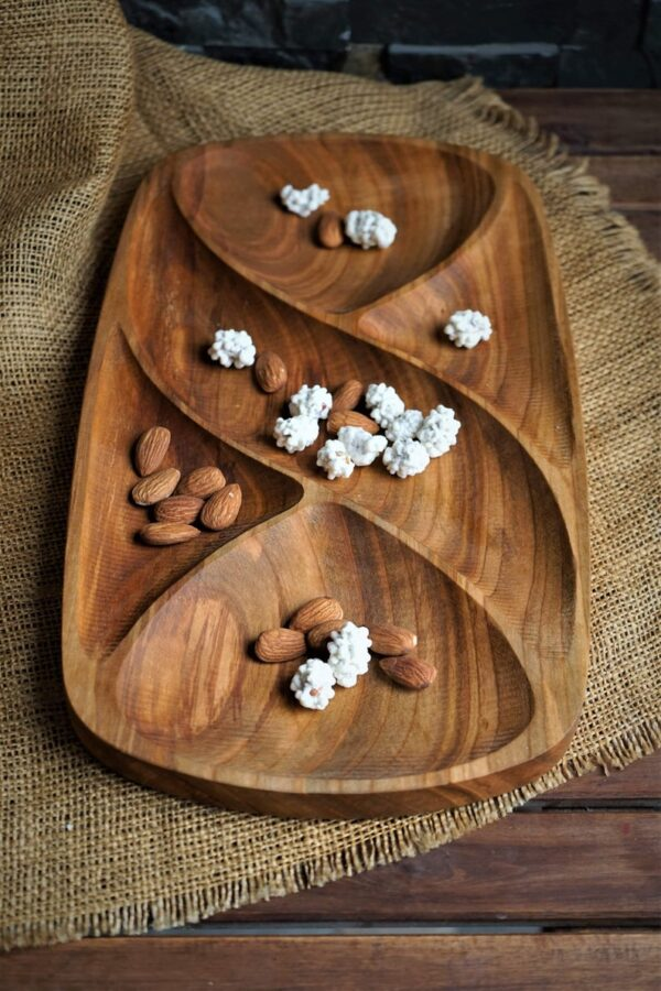 Nuts Wooden food Tray image 4