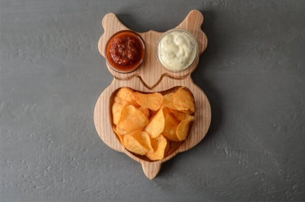 Owl Chips tray for child image 1
