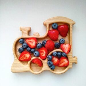 Train Wooden Food Tray image 5