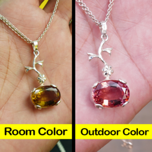 color changing stone locket