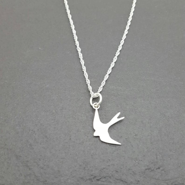 Diving Bird Beautiful Sterling Silver Locket