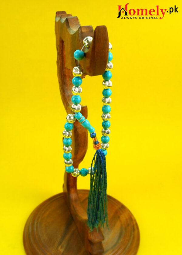 Feroza-Tasbeeh-With-Silver-Beads-image-2
