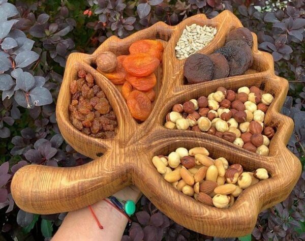 Leaf Wooden Food Tray image 2