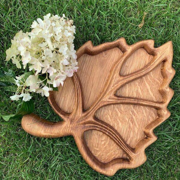 Leaf Wooden Food Tray image 1
