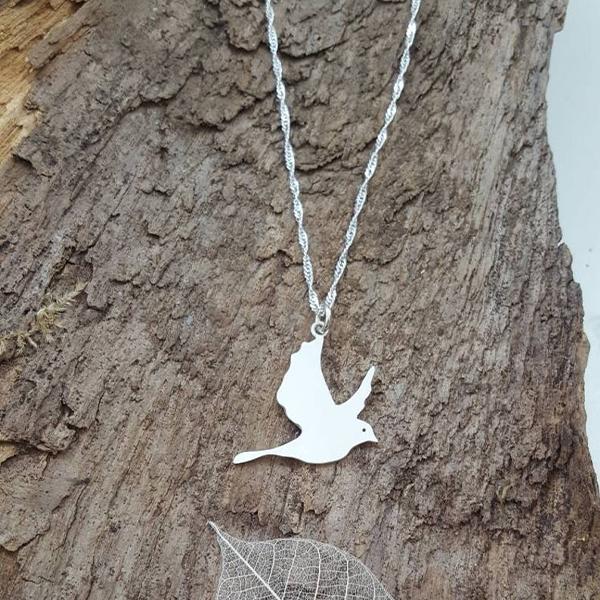 Peace Pigeon Sterling silver locket