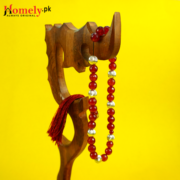 Red-Jade-With-Silver-Beads-image-10